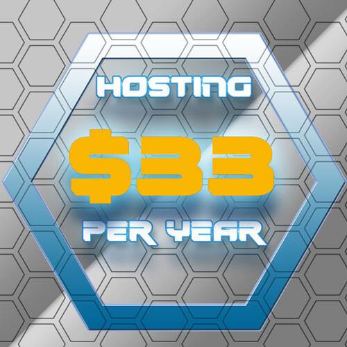 33 Per Year Hosting